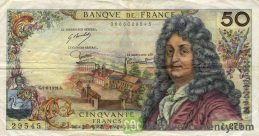 50 French Francs banknote (Jean Racine)