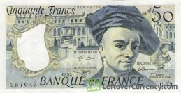 50 French Francs banknote (Maurice Quentin)