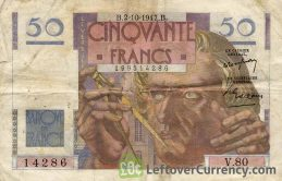 50 French Francs banknote (Urbain Le Verrier)