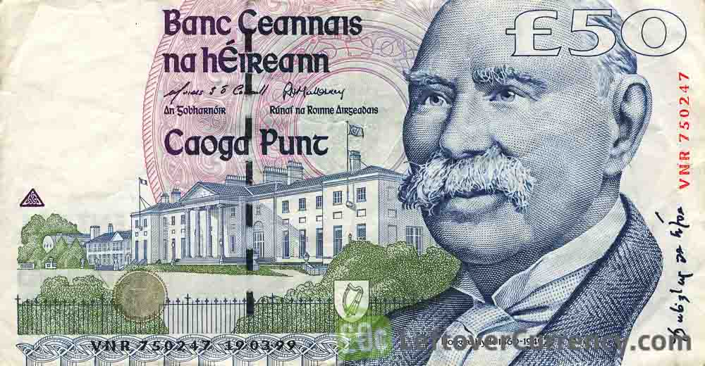 50 Irish Pounds banknote (Douglas Hyde)