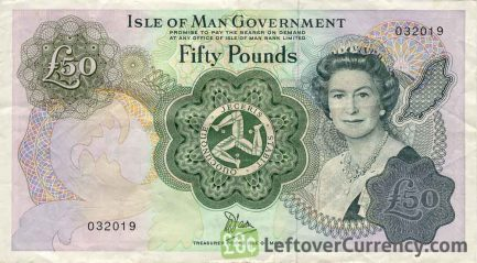 50 Isle of Man Pounds banknote (Douglas Bay)