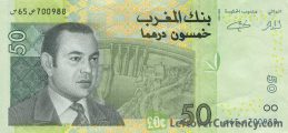 50 Moroccan Dirhams banknote (2002 issue)