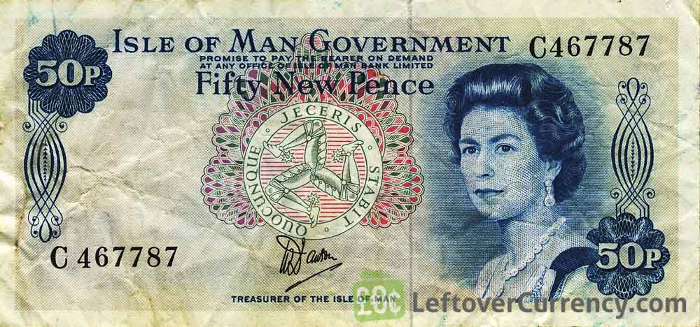 50 new Pence banknote Isle of Man