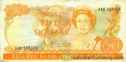 50 New Zealand Dollars banknote series 1981