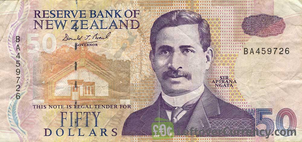 50 New Zealand Dollars banknote series 1992