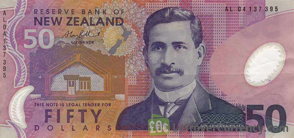 50 New Zealand Dollars banknote series 1999