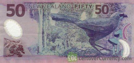 50 New Zealand Dollars banknote series 1999