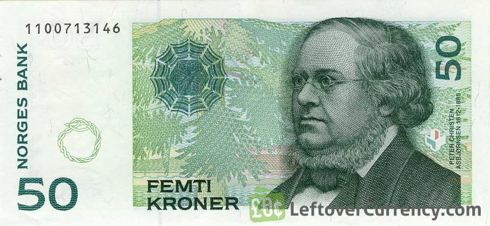 50 Norwegian Kroner banknote (Peter Christen Asbjornsen)