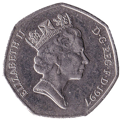 50 Pence Coin Great Britain