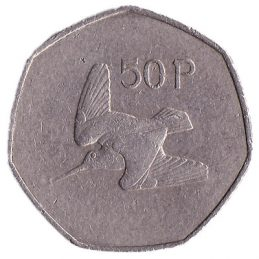 50 Pence coin Ireland