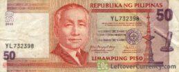 50 Philippine Peso banknote (Sergio Osmena)