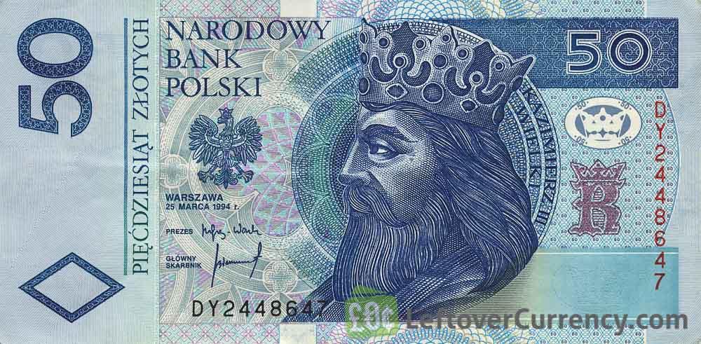 50 Polish Zloty banknote (King Kazimierz III Wielki)