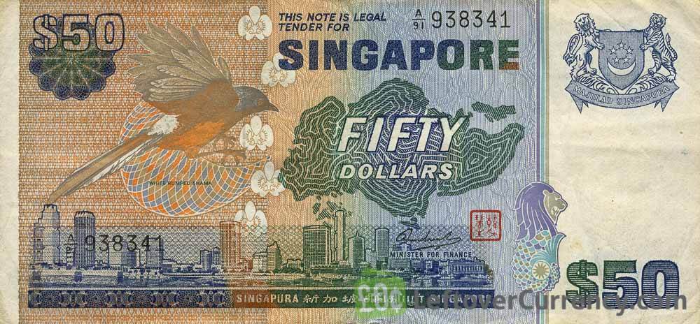50 Singapore Dollars banknote (Bird series)