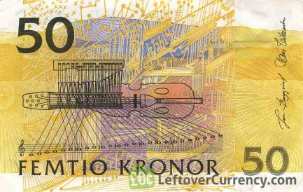 50 Swedish Kronor banknote (Jenny Lind issue 1996)