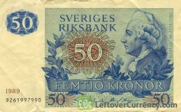 50 Swedish Kronor banknote (King Gustaf III)