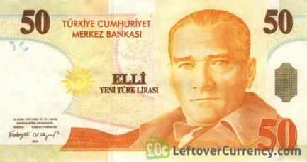 50 Turkish Lira banknote (8th emission group 2005)