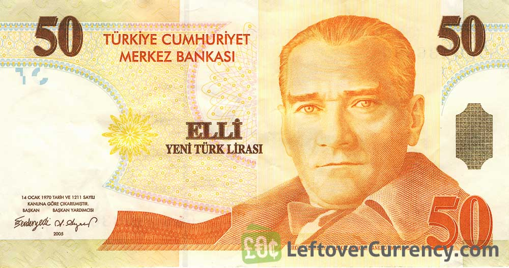 50 Turkish Lira banknote (8th emission group 2005)