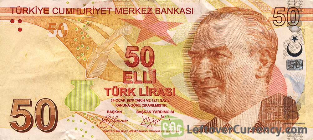 50 Turkish Lira banknote (9th emission group 2009)