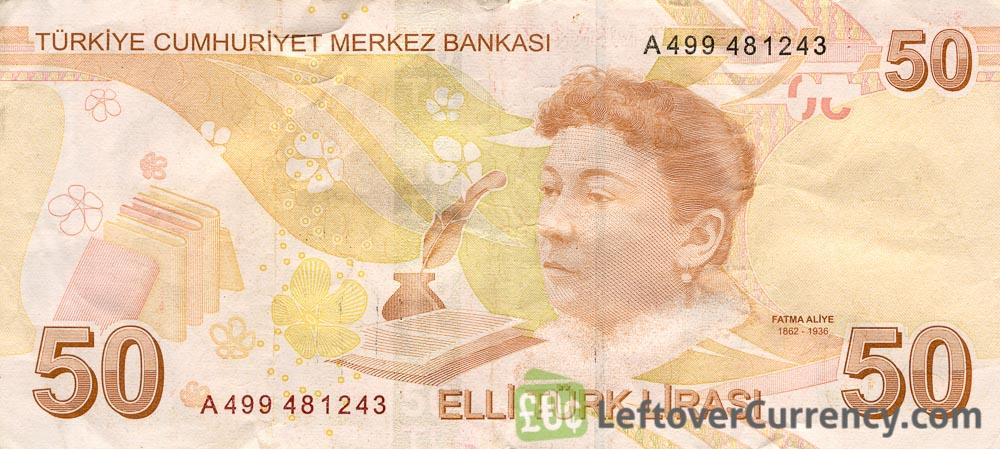 50 Turkish Lira banknote (9th emission group 2009)