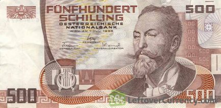 500 Austrian Schilling banknote (Otto Wagner)