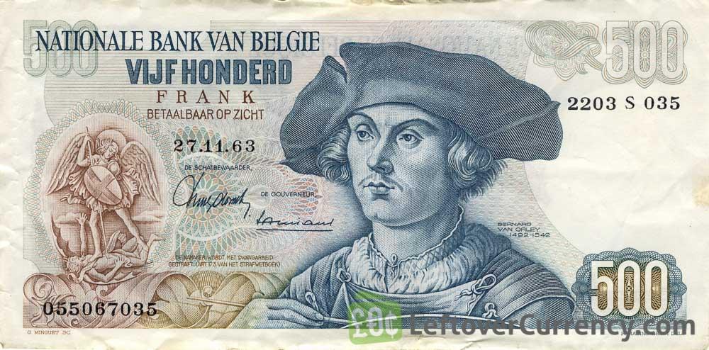 500 Belgian Francs banknote (Bernard Van Orley)