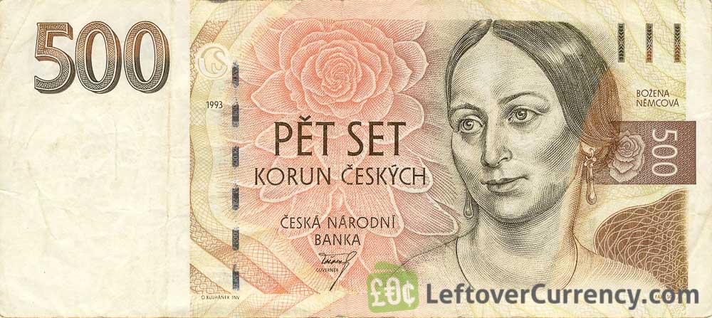 500 Czech Koruna banknote series 1993