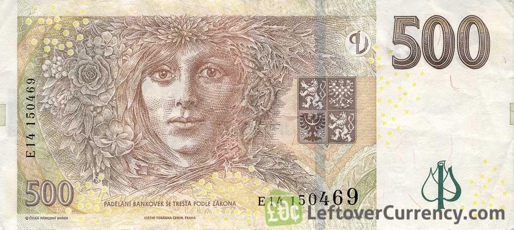 500 Czech Koruna banknote series 1997