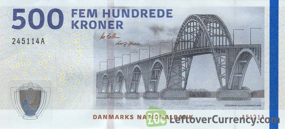 500 Danish Kroner banknote (Bridges of Denmark series)