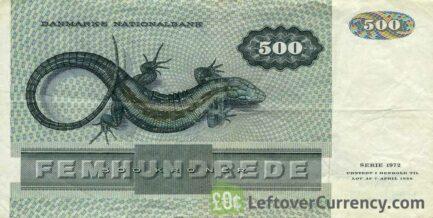 500 Danish Kroner banknote (Unknown Lady portrait)
