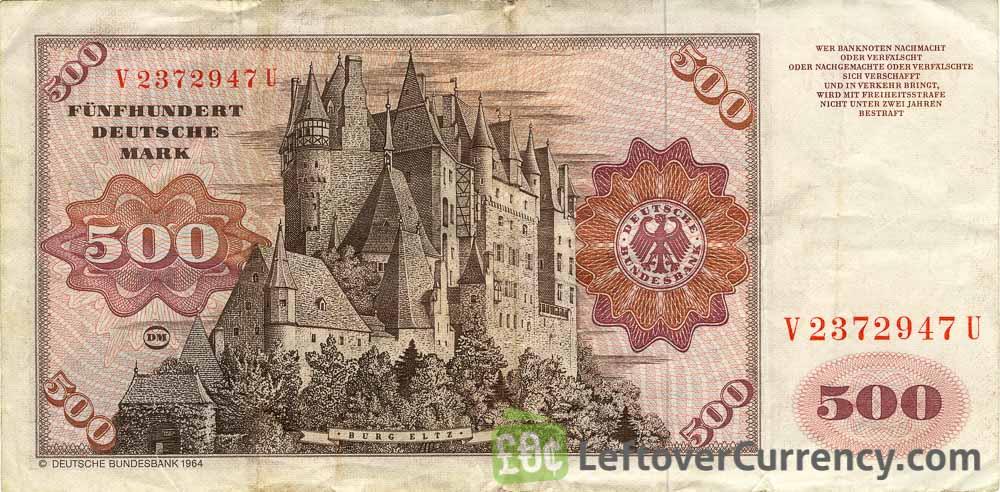 500 Deutsche Marks banknote (Eltz Castle)