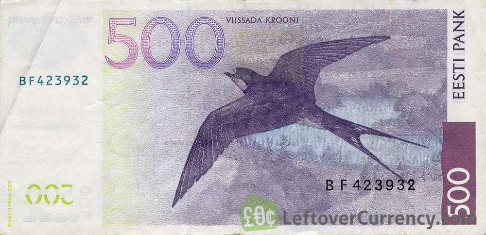 500 Estonian Krooni banknote (Carl Robert Jakobson)