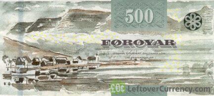 500 Faroese Kronur banknote (Beach crab's claw)