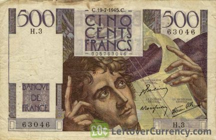 500 French Francs banknote (Francois-Rene de Chateaubriand)