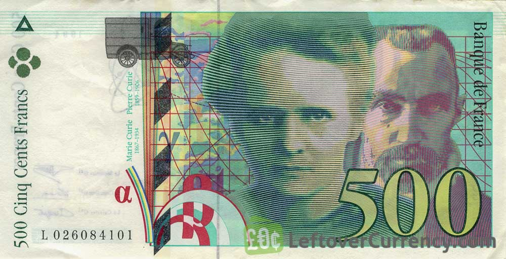 500 French Francs banknote (Pierre and Marie Curie)