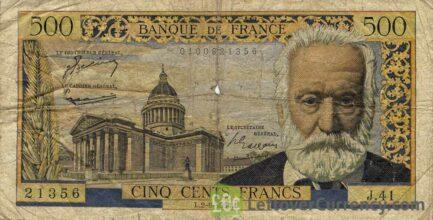 500 French Francs banknote (Victor Hugo)