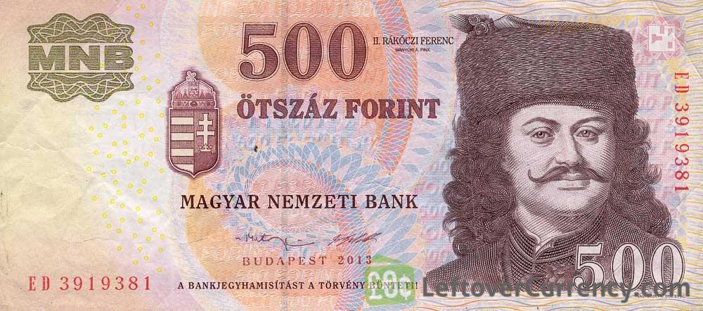 500 Hungarian Forints banknote (Ferenc Rakoczi II)