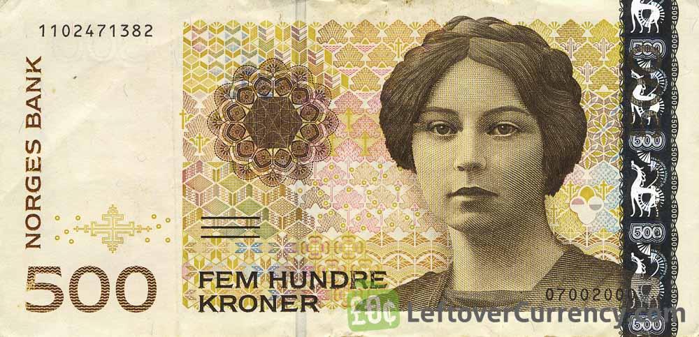 500 Norwegian Kroner banknote (Sigrid Undset)