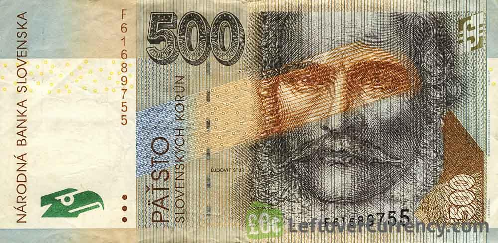 500 Slovak Koruna banknote (Ludovit Stur)