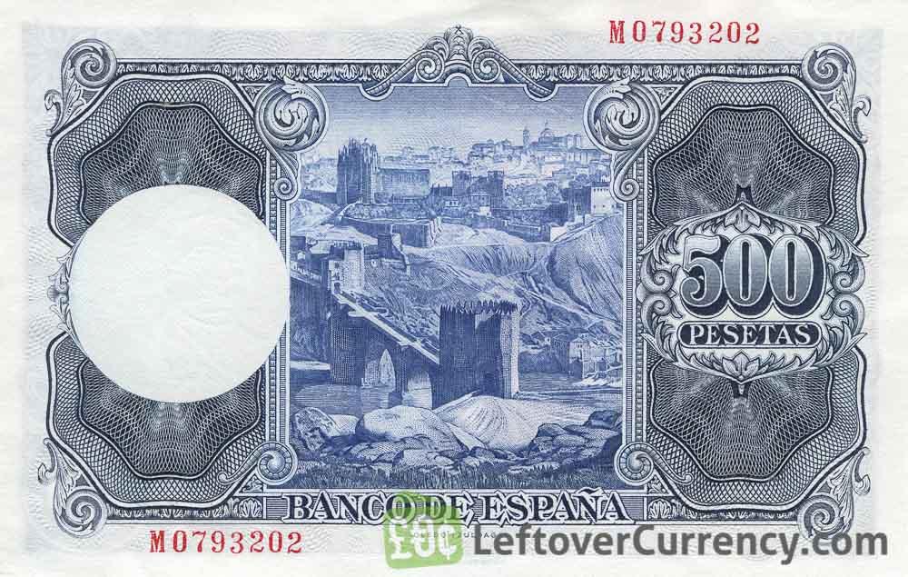 500 Spanish Pesetas banknote (Ignacio Zuloaga)