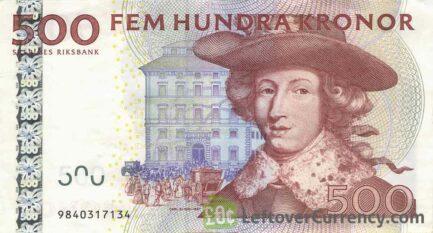 500 Swedish Kronor banknote (King Carl XI)