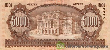 5000 Hungarian Forints banknote (Count Istvan Szechenyi)