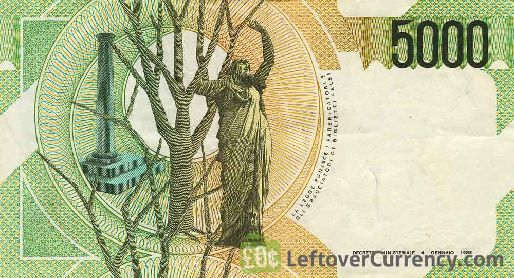 5000 Italian Lire banknote (Vincenzo Bellini)
