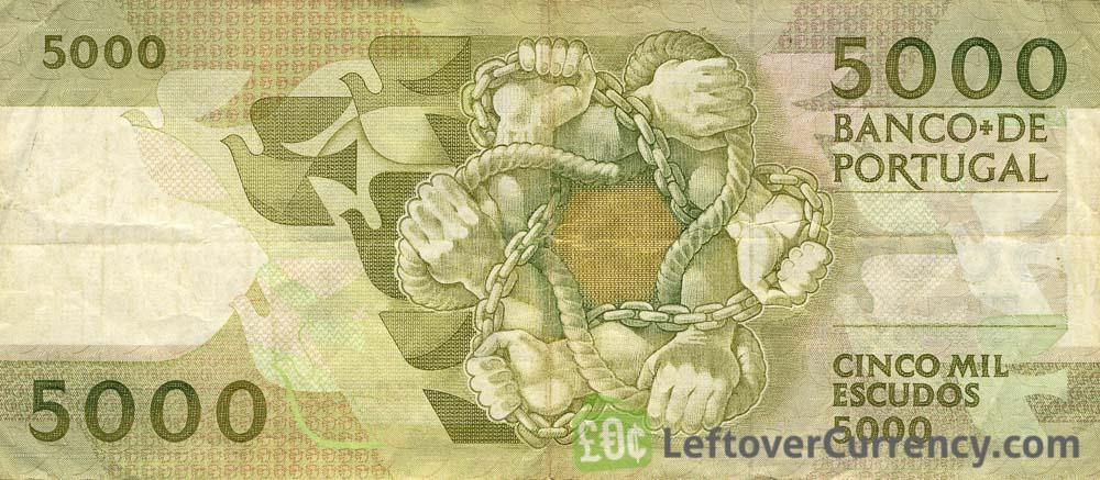 5000 Portuguese Escudos banknote (Antero de Quental)
