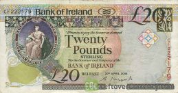 Bank of Ireland 20 Pounds banknote (Queen's University)