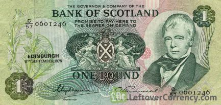 Bank of Scotland 1 Pound banknote (1970-1988 series)