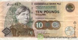 Clydesdale Bank 10 Pounds banknote (1997-2006 series)