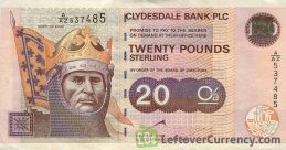 Clydesdale Bank 20 Pounds banknote (1990-2007 series)
