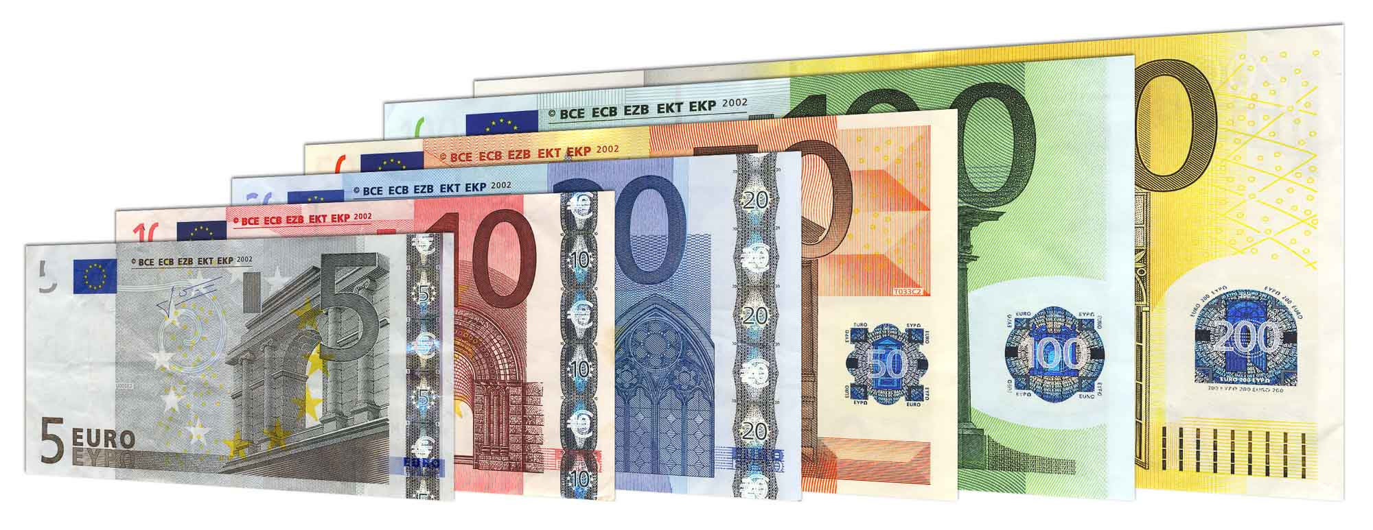 old Euro banknotes 1st Series