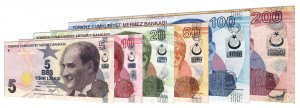 Current Turkish Lira banknotes accepted for exchange