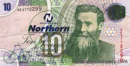 Northern Bank 10 Pounds banknote (series 2004)